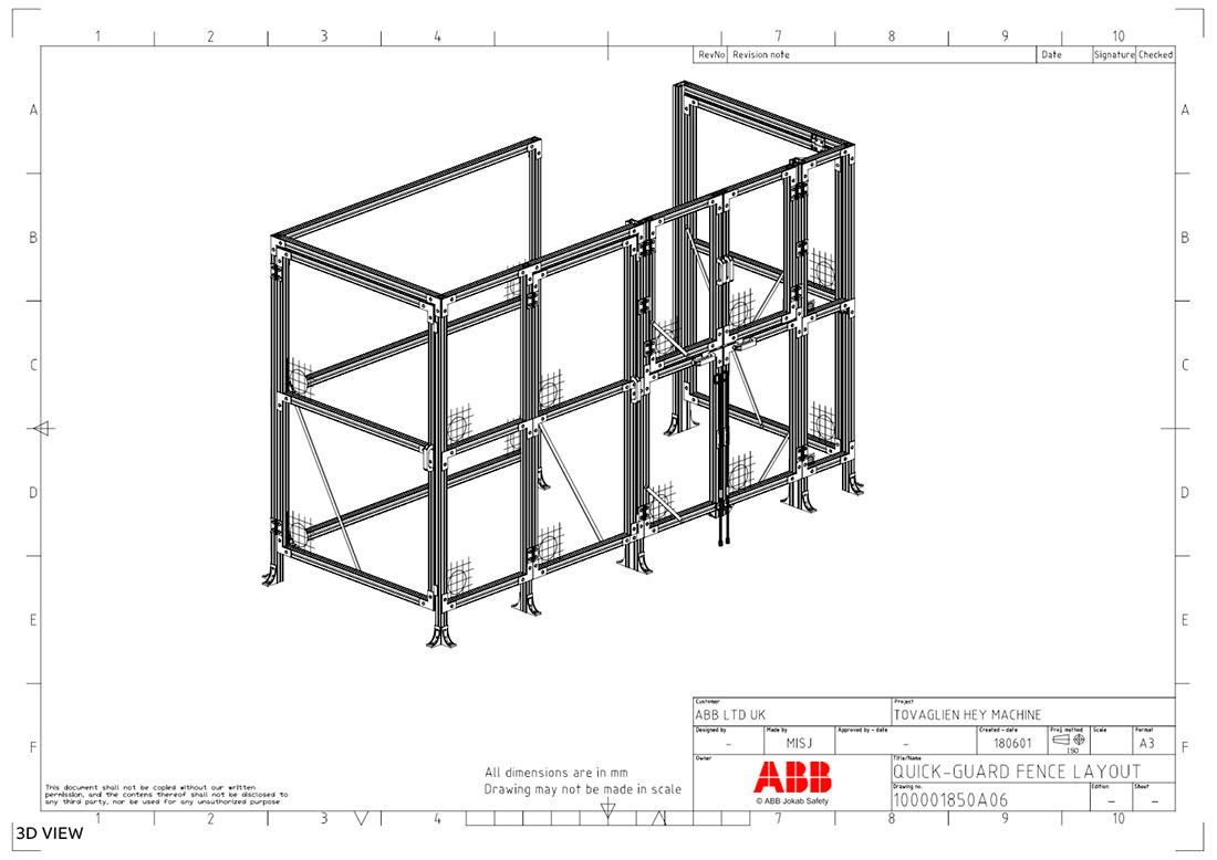 ABB Safety Fencing Diagram